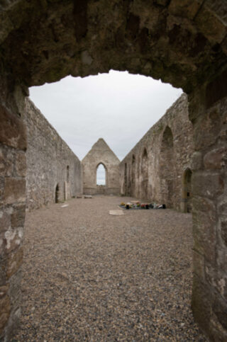 Inside Drumlane Abbey