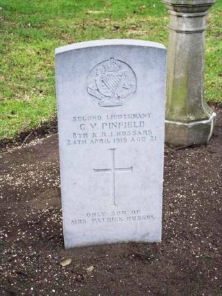 Guy Vickery Pinfield gravestone