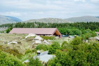 Ionad Cultúrtha an Phiarsaigh Exterior with views of Conamara