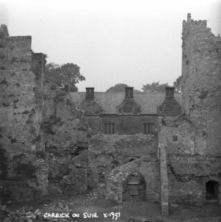 A view of the two 15th century towers (1951)