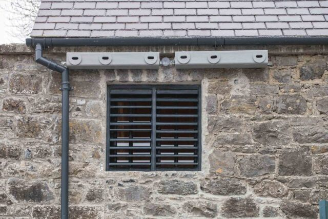 Specialised Swift nest boxes at Portumna Castle