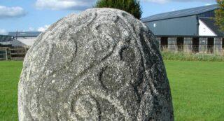Detail of the Turoe Stone.