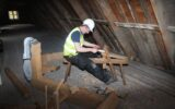 Brian working on a conservation project in Ormond Castle.