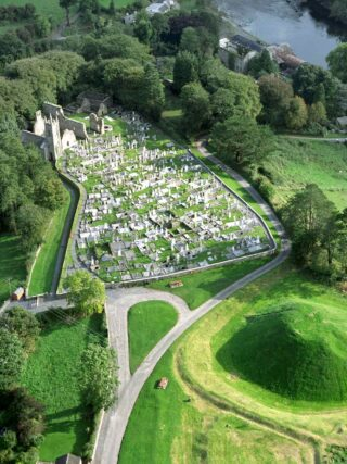 Aerial view of St. Mullin's Monastic Site