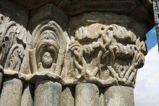 Carved capitals, slype doorway