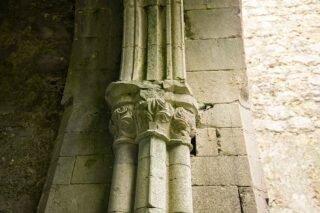 Carved capital at then entrance to north chapel in the south transept
