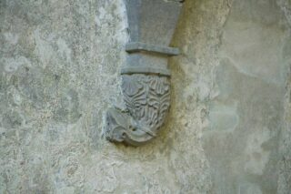 North east corbel in the chancel
