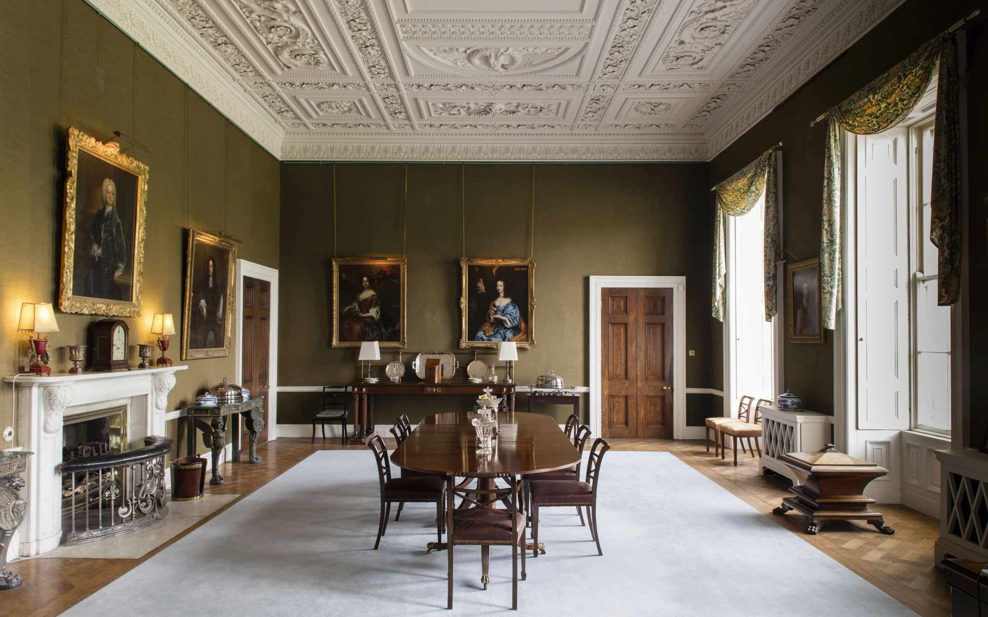 The dining room at Emo Court.