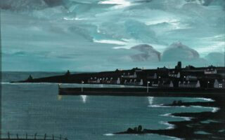 Painting – My Island at Night by Patsy Dan Rogers
