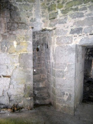 Inside the first floor of the tower