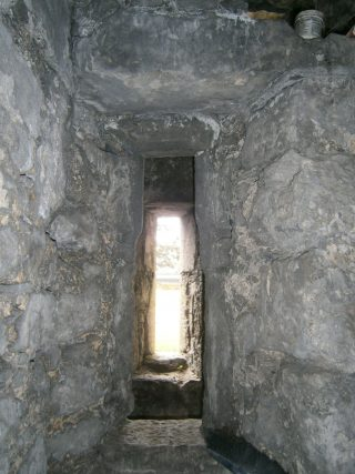 Prison cell double window view