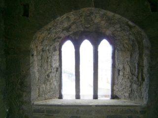 Triple light window, second floor, facing west
