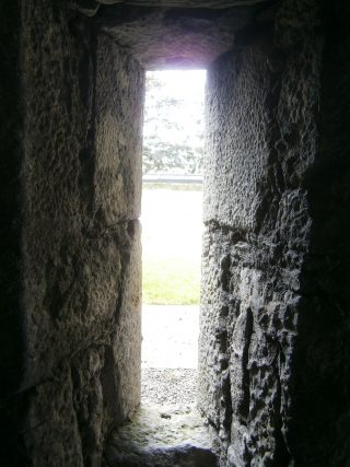View of the graveyard from the prison cell