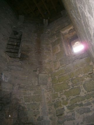 View of the inside of the first floor of the tower
