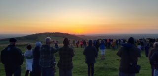 Waiting for Equinox at Loughcrew